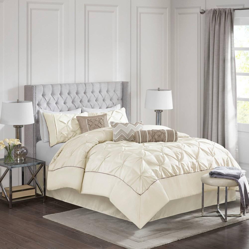 Piedmont Comforter Set Queen Ivory 7pc