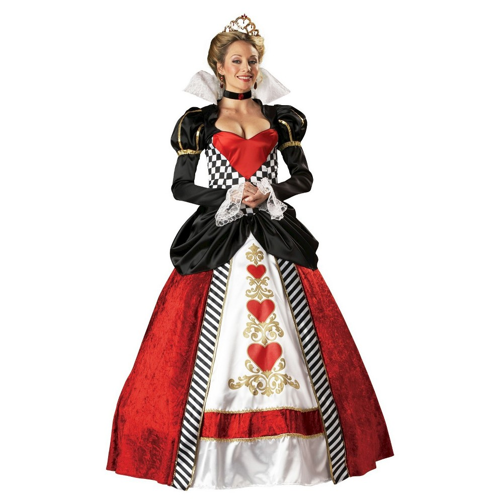 Women's Queen of Hearts Elite Collection Adult Costume Large, Red
