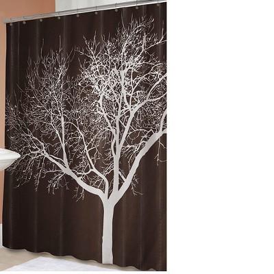 Tree Shower Curtain Chocolate - Splash Home®