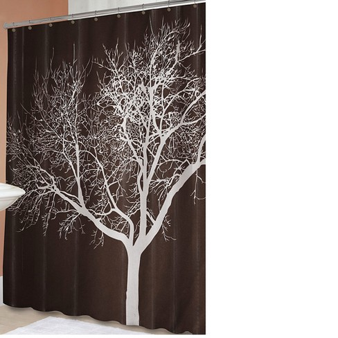 Tree Shower Curtain Chocolate