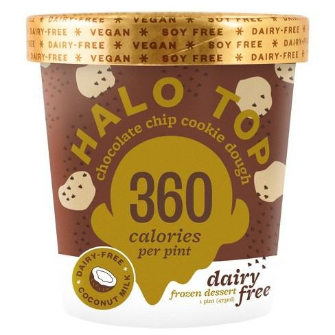 Halo Top Dairy-Free Chocolate Chip Cookie Dough Ice Cream - 16oz - image 1 of 1