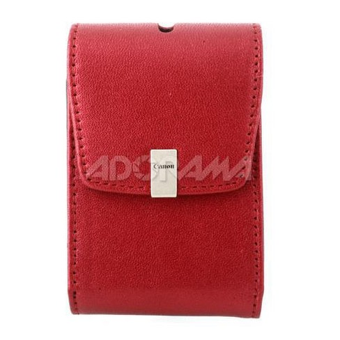 Canon PSC-1050 Deluxe Fitted Leather Case - Red - for the Powershot SD1400 IS / SD940 IS / SD780 IS - image 1 of 2