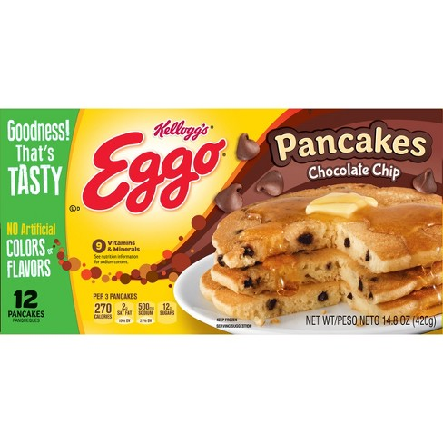 Kellogg's Eggo Chocolate Chip Pancakes - 12ct - image 1 of 8