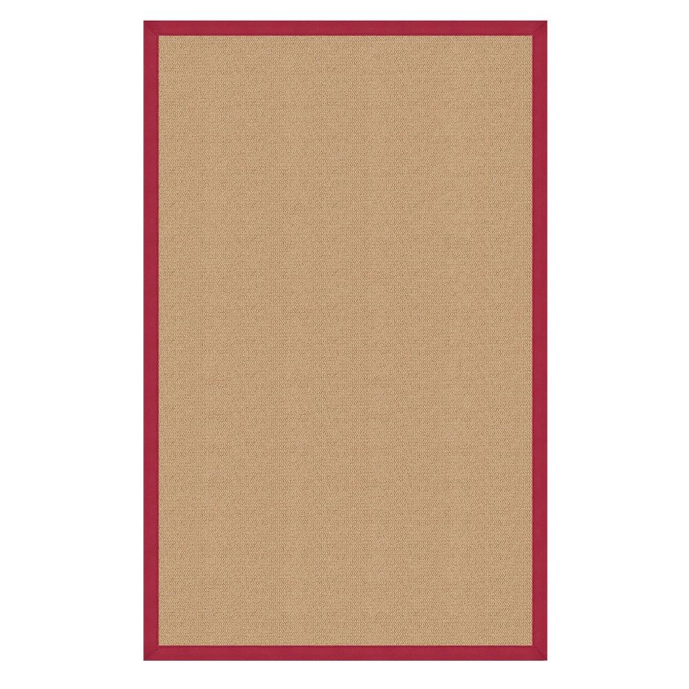 8 39 X11 39 Athena Sisal Wool Area Rug Red Linon