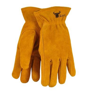 Kids Genuine Leather Work Gloves - Brown - G & F