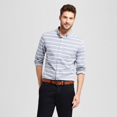 5eb373990a5 Mens Slim Fit Northrop Poplin Button Down Shirt - Goodfellow & Co™ Blue/ White