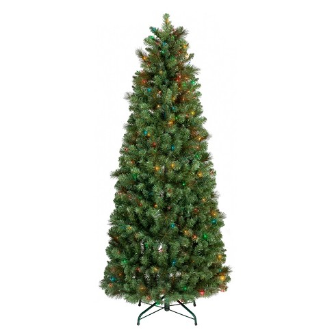 6ft Prelit Artificial Christmas Tree Slim Collapsible Douglas Fir Multi  Lights - Wondershop™ - 6ft Prelit Artificial Christmas Tree Slim... : Target