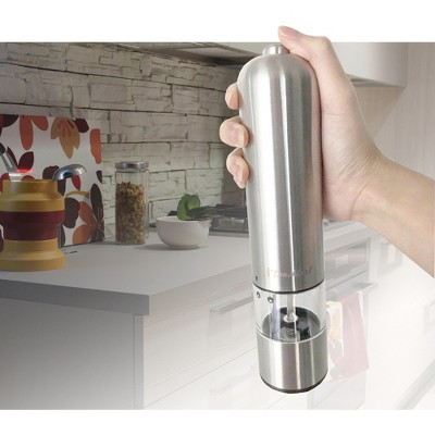 iTouchless Electronic Stainless Steel Pepper and Salt Mill