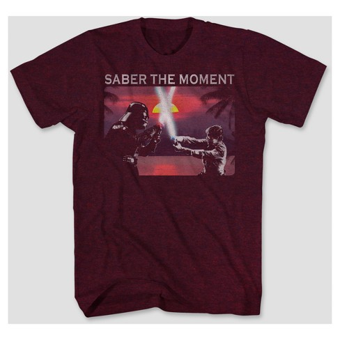 Men's Star Wars Saber The Moment Graphic T-Shirt - Sangria - image 1 of 1