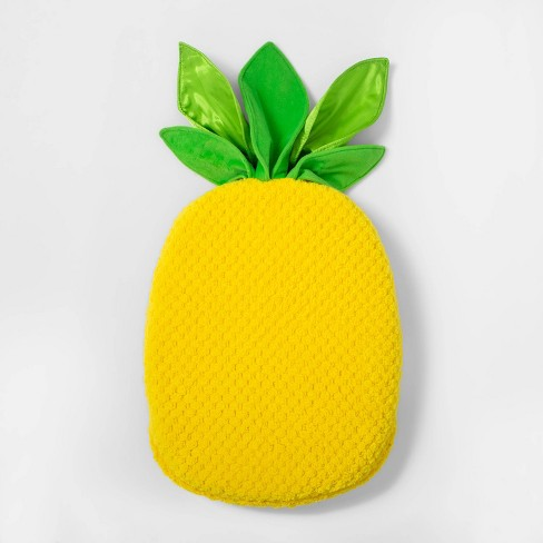 Sensory-Friendly Pineapple Floor Cushion with Tactile Leaves Yellow - Pillowfort™ - image 1 of 5