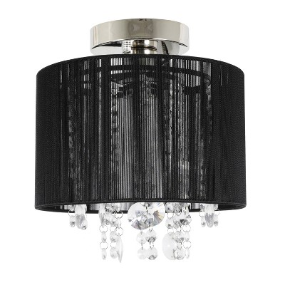Silvia String Beaded Flush Mount Ceiling Light Polished Nickel - Decor Therapy