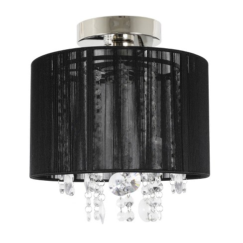 Silvia String Beaded Flush Mount Ceiling Light Polished Nickel Decor Therapy Target
