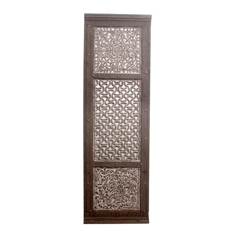 """72""""x24"""" Carved Out Wood Panel Black - A&B Home - image 1 of 1"""