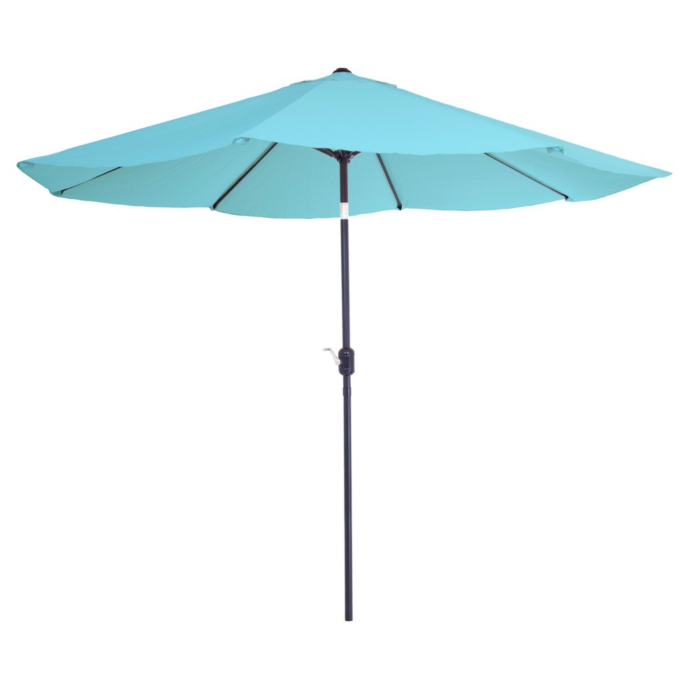 Image of 10' Aluminum Patio Umbrella with Auto Tilt - Blue - Pure Garden