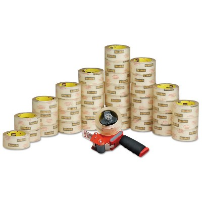 """Scotch 3750 Commercial Grade Packaging Tape 1.88"""" x 54.6yds 3"""" Core Clear 36/Carton 3750CS36ST"""