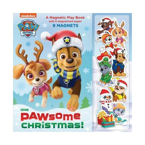 Paw Patrol Christmas.One Paw Some Christmas A Magnetic Play Book Paw Patrol Board Book