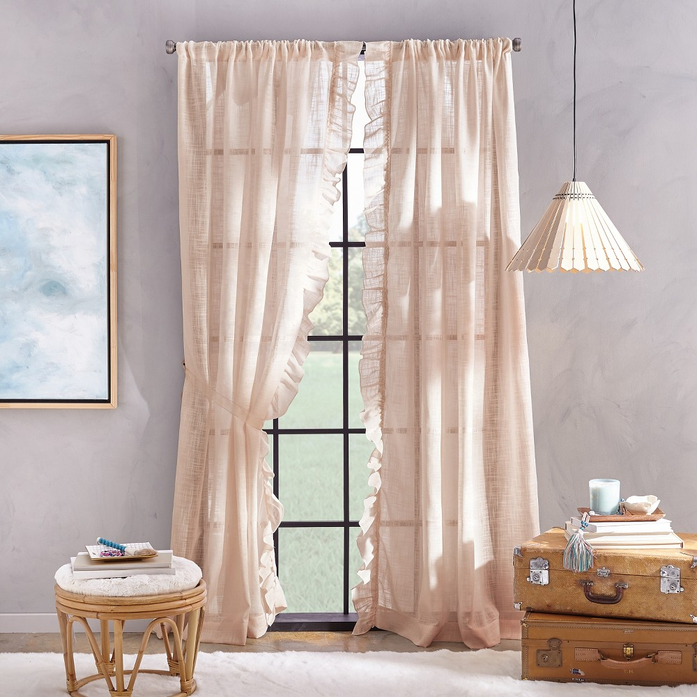 "Image of ""108"""" Arabella Flippable Curtain Panel Blush"""