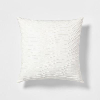 Wave Square Throw Pillow Cream - Project 62™