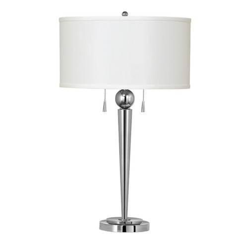2 Way Messina Metal Table Lamp - Brushed Steel - image 1 of 2