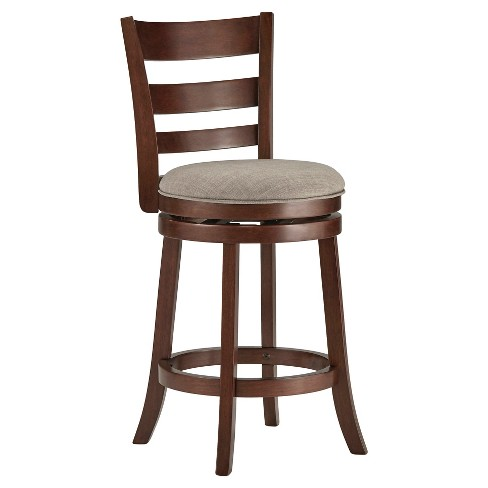 "24"" Hooper Swivel Counter Stool Wood Smoke - Inspire Q - image 1 of 3"