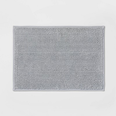 """17""""x24"""" Solid Bath Rug Gray - Made By Design™"""