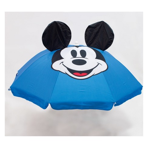 Disney Mickey Mouse & Friends Summer Beach Umbrella - 6'x6' White/Blue - image 1 of 2