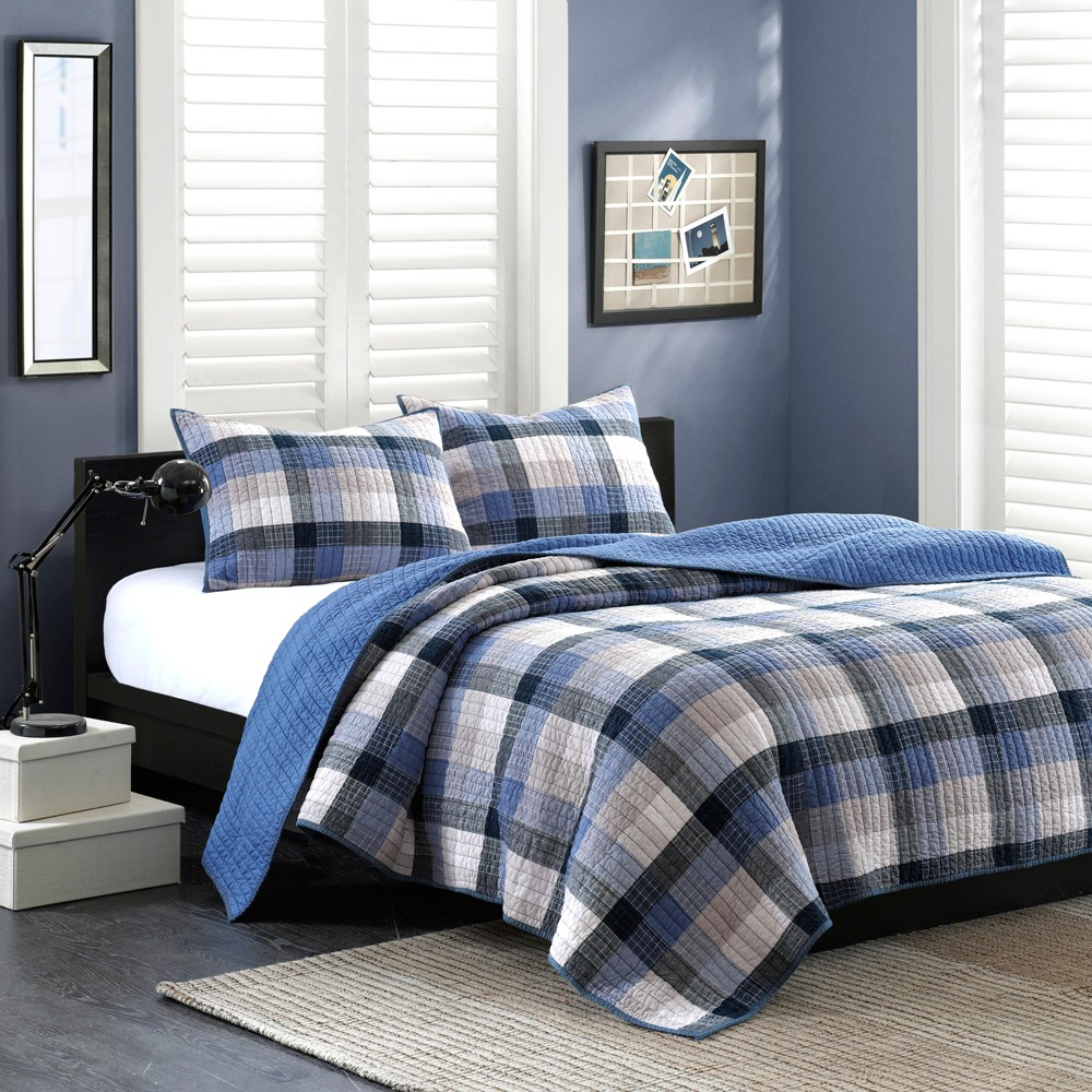 2pc Twin Maddox Coverlet Set Blue