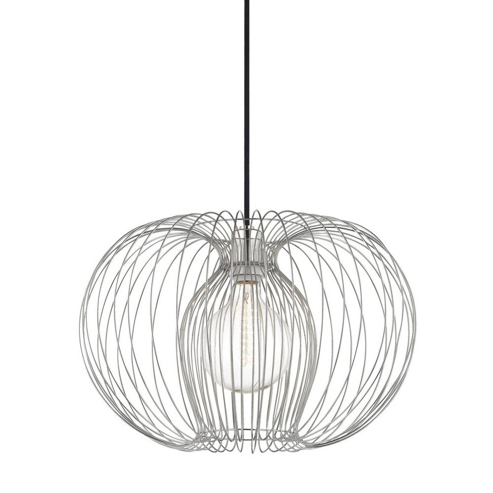 Jasmine 1-Light Large Pendant Chandelier Brushed Nickel - Mitzi by Hudson Valley Buy