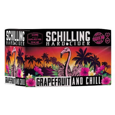 Schilling Grapefruit and Chill Hard Cider - 6pk/12 fl oz Cans