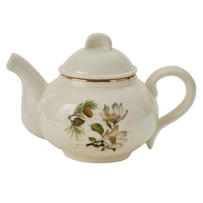 Park Designs Wintertime Teapot - Off-White