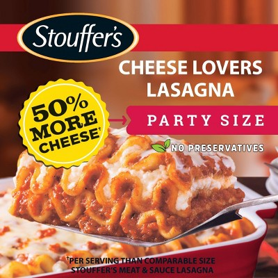Stouffer's Party Size Frozen Cheese Lovers Lasagna - 96oz