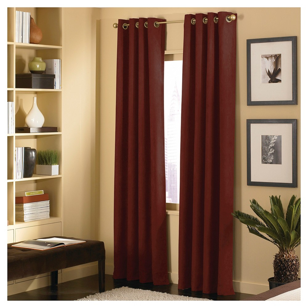 Image of Curtainworks Cameron Curtain Panel - Bordeaux (Red) (108)