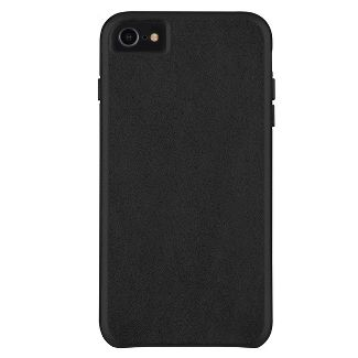 Case-Mate Apple iPhone 8/7/6s/6 Barely There Leather Case - Smooth Black