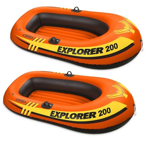 Intex Explorer Pro 2 Person Youth PVC Boat Raft for Fishing & Rafting (2 Pack) - image 1 of 4