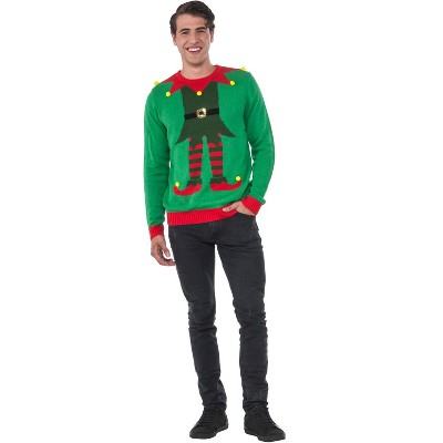 Rubies Green Elf Sweater Adult Costume