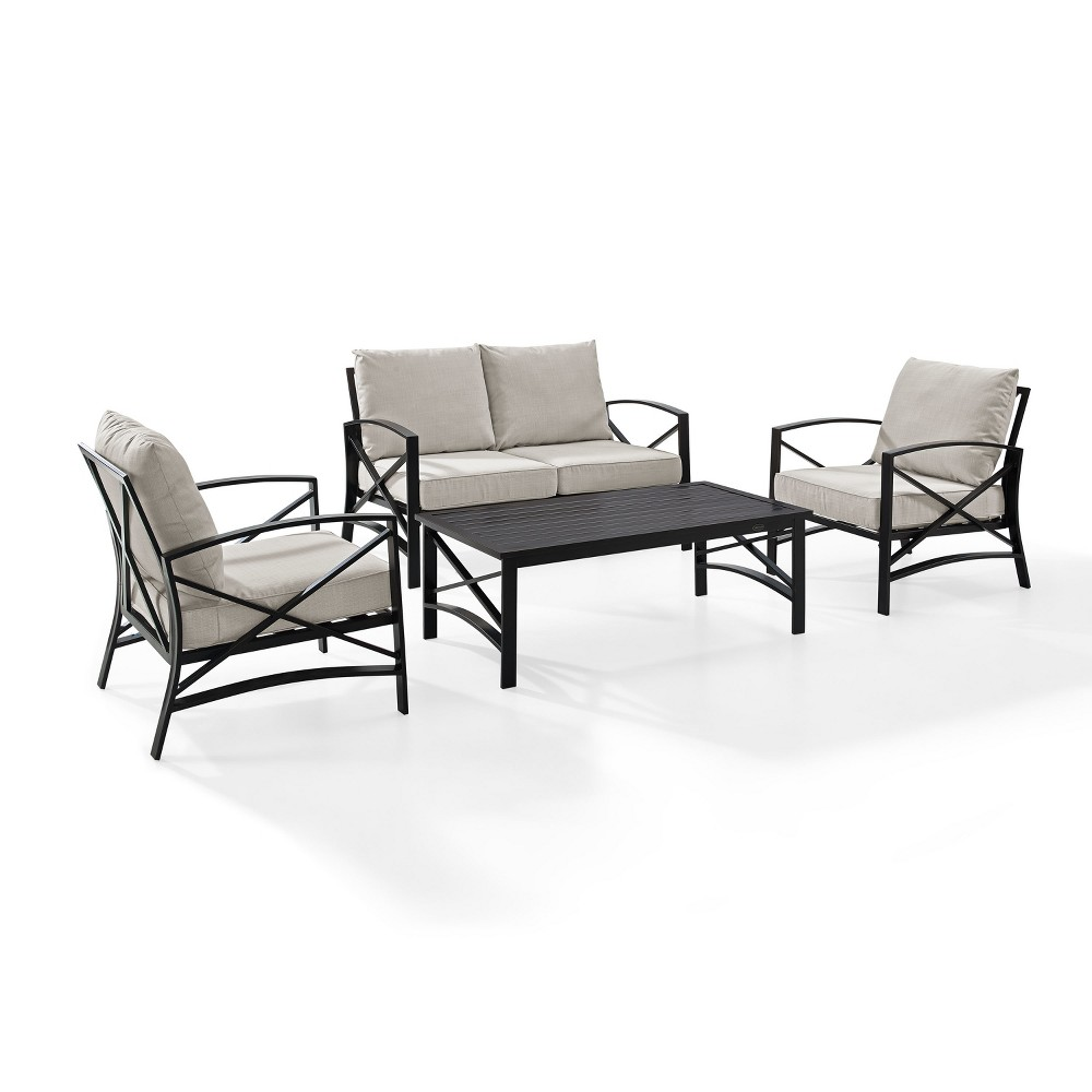 4pc Kaplan Outdoor Seating Set Oatmeal - Crosley