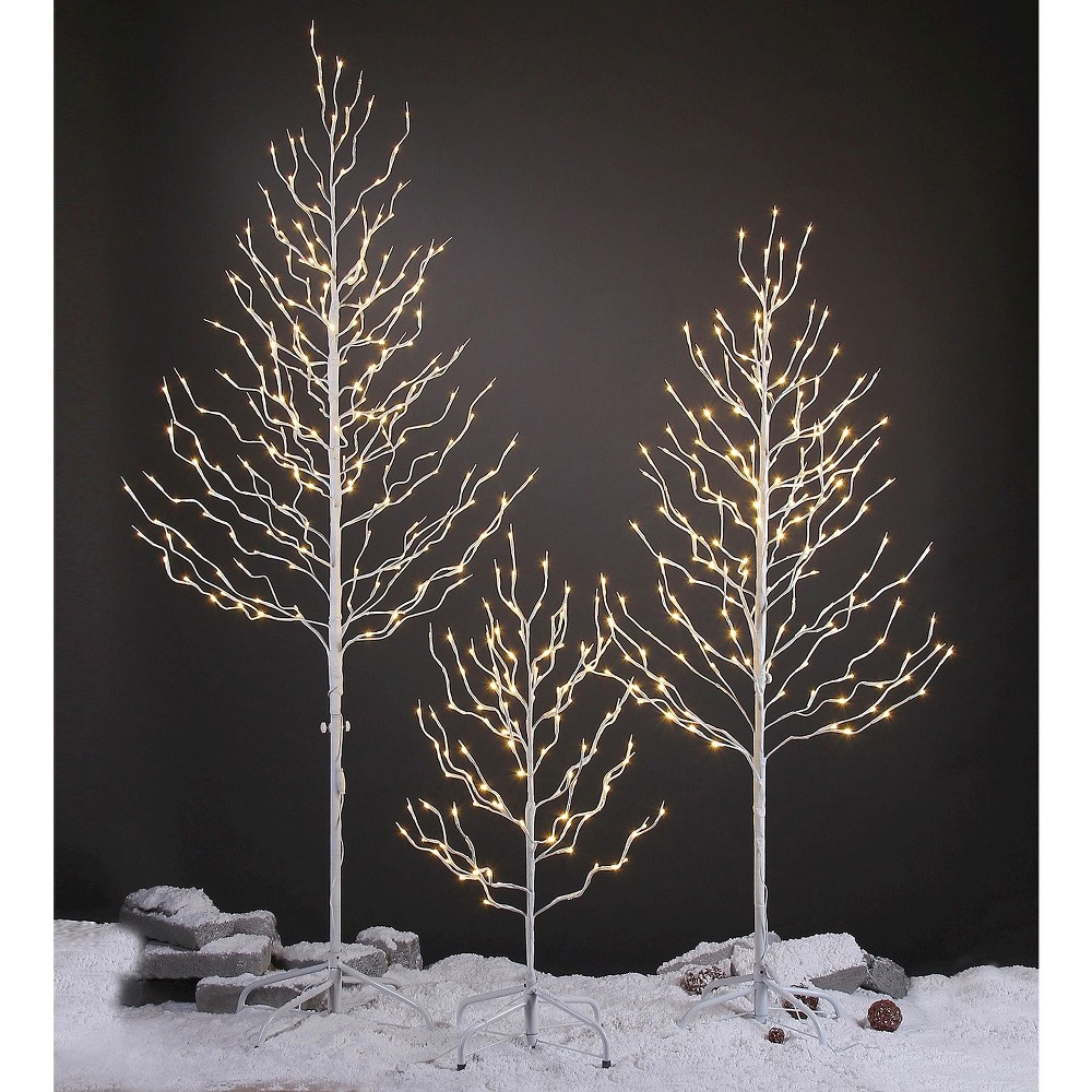 Image of LED Lightshare 3' 112L LED Lighted Star LED Light Tree, Warm White LED Lights - White Branch