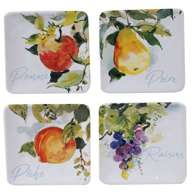 "6"" 4pk Earthenware Ambrosia Canape Plates - Certified International"