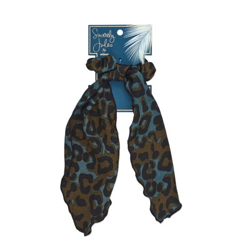 Sincerely Jules by Scunci  Leopard Scrunchie with Tail - image 1 of 4