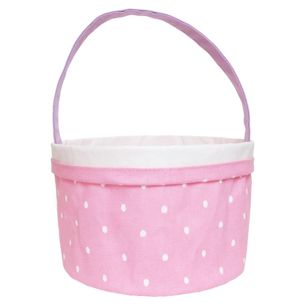 Easter Pink Printed Canvas Basket - Spritz