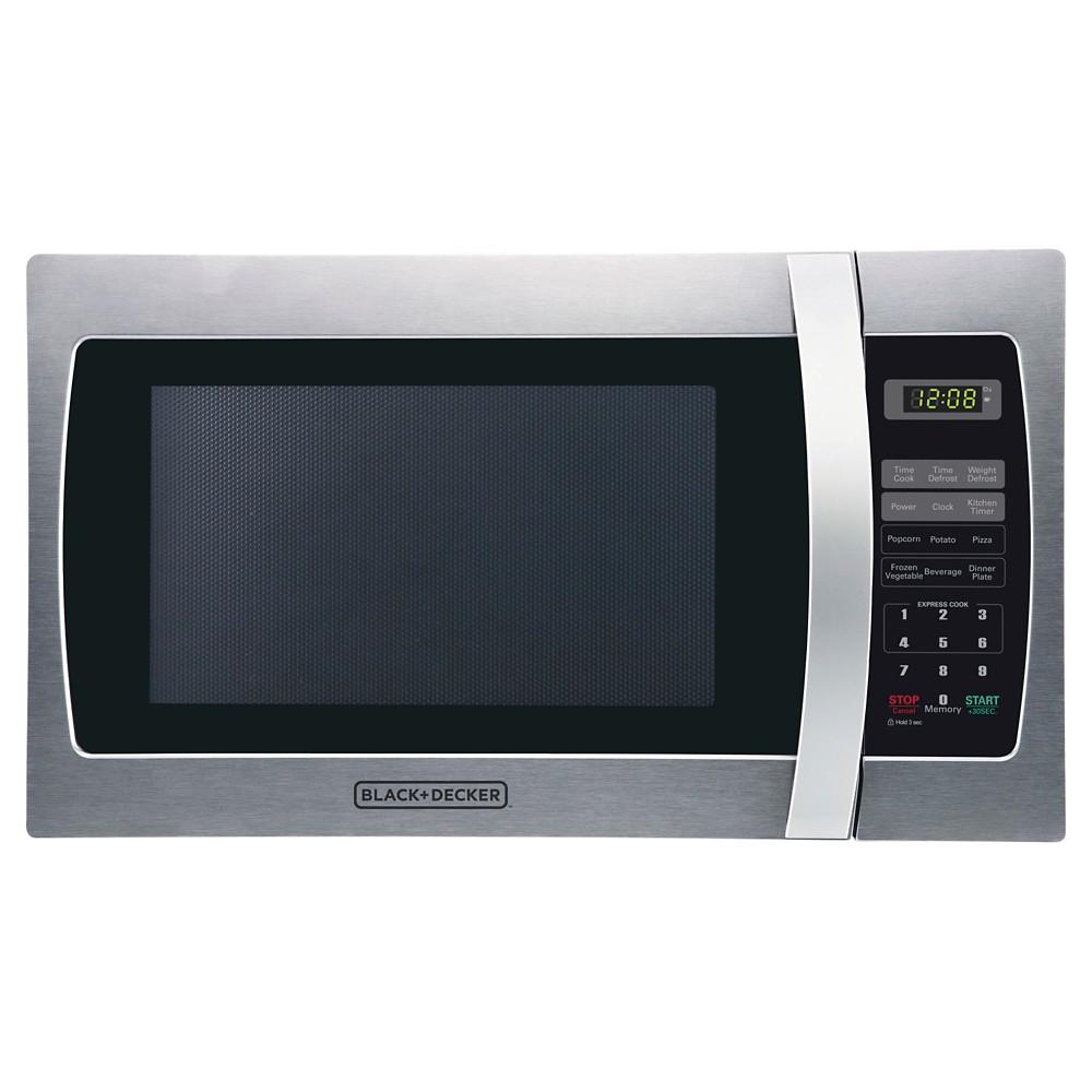 Image of BLACK+DECKER 1.3 cu ft 1000 Watt Microwave Oven, Silver