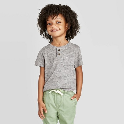 Toddler Boys' Henley T-Shirt - Cat & Jack™ Gray
