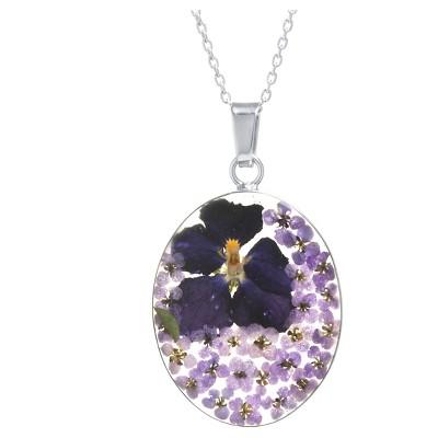 Fashion Statement Necklace Sterling Dark Purple