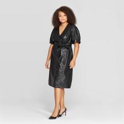 Women's Plus Size Short Sleeve V-Neck Midi Dress - Who What Wear™