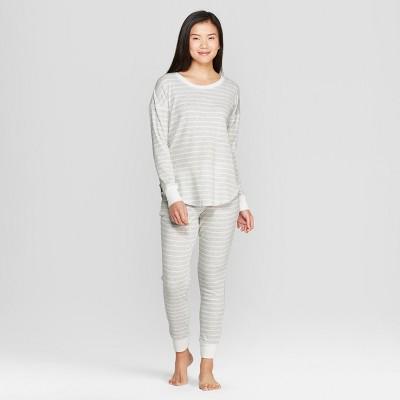34fb6da00925 Women s Striped Pajama Set – Gilligan   O Malley™ Gray M – Target ...