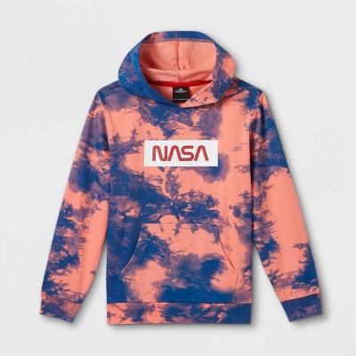 Kids' NASA Tie-Dye Hoodie - Pink