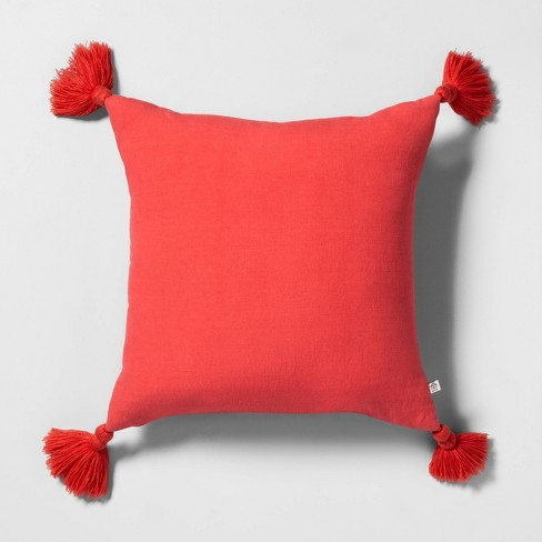 Throw Pillow with Tassels - Hearth & Hand™ with Magnolia - image 1 of 6