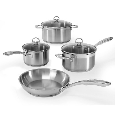 Chantal Induction 21 Steel 7pc Stainless Steel Cookware Set