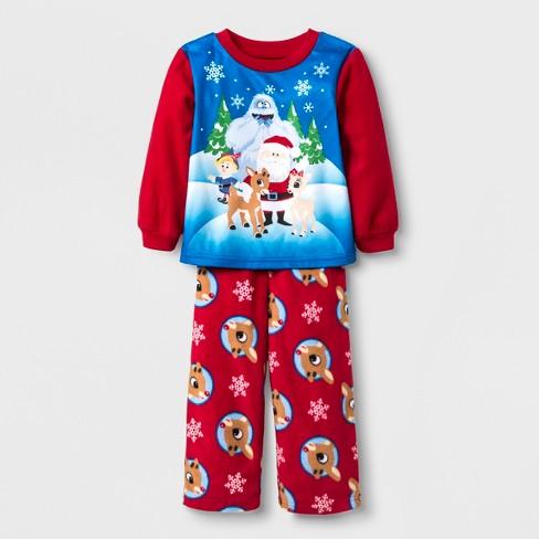 3e5e10e21c Toddler Boys  Rudolph The Red-Nosed Reindeer 2pc Fleece Pajama Set - Red