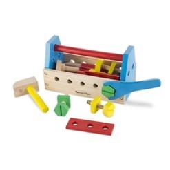Melissa & Doug Take-Along Tool Kit Wooden Construction Toy (24pc)
